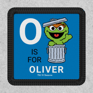 O is for Oscar the Grouch   Add Your Name Patch
