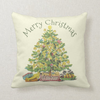 Old Fashioned Christmas Personalized Throw Pillow