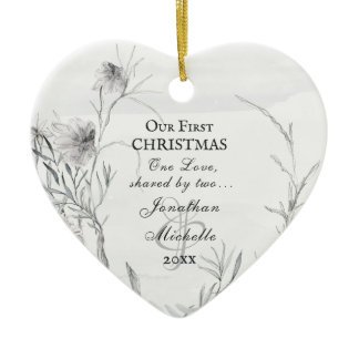 Our First Christmas, Personalized Christian Ceramic Ornament