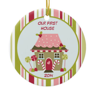 Our First House Christmas Personalized Ornament