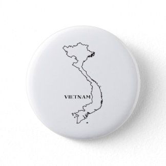 Outline Map Of Vietnam Button