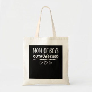 Outnumbered Mom of Boys Mothers Day Tote Bag