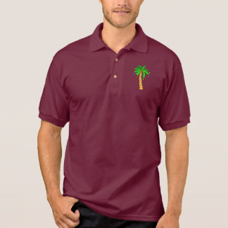 Palm Tree Decorated for Christmas Polo Shirt