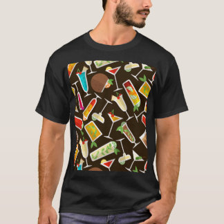 Pattern cocktail and long drink, cocktail bar T-Shirt