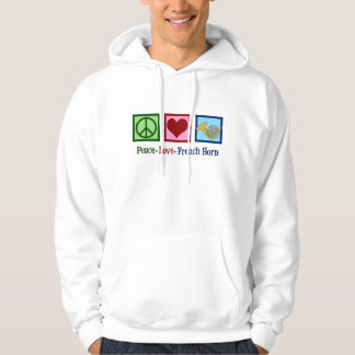 Peace Love French Horn Hoodie