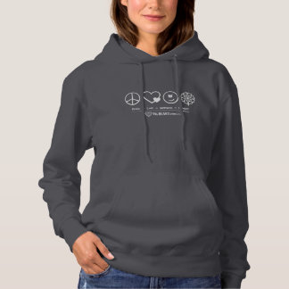 Peace ∞ Love ∞ Happiness ∞ Kindness (Dark Color) Hoodie