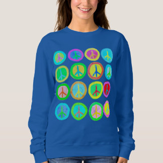 Peace Signs Abstract Art to Wear Sweatshirt