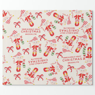 Personalize Blonde Boy Elf Wrapping Paper
