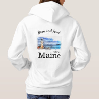 Personalize Made in your town, State lighthouse Hoodie