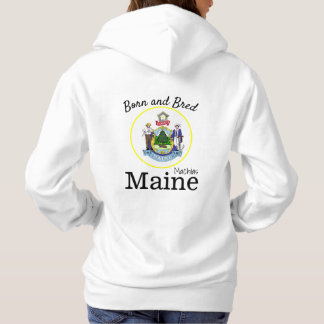 Personalize Made in your town, State Maine Hoodie
