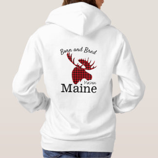 Personalize Made in your town, State Moose Hoodie