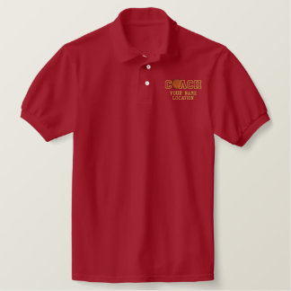 Personalized Basketball Coach Your Name Your Game Embroidered Polo Shirt