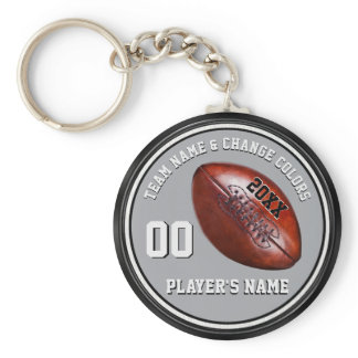 Personalized Cheap Football Gifts in Your Colors Keychain