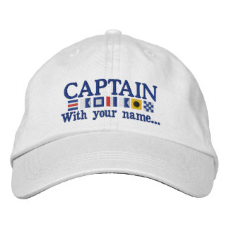 Personalized Custom Your Captain Nautical Flags Embroidered Baseball Hat