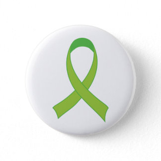 Personalized Lime Green Awareness Gift Pinback Button