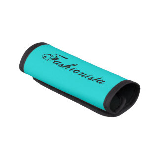 Personalized Name Teal Luggage Handle Wrap
