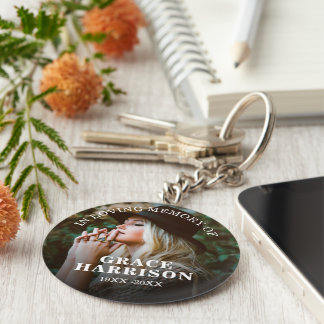 Personalized Photo Memorial Keychain