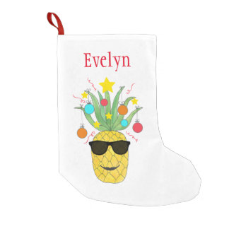Personalized Pineapple Christmas Stocking
