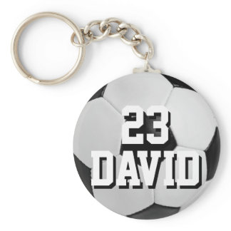 Personalized Soccer Ball Keychain Name and Number