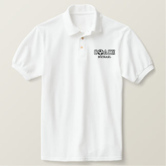 Personalized Soccer Coach Embroidered Polo Shirt