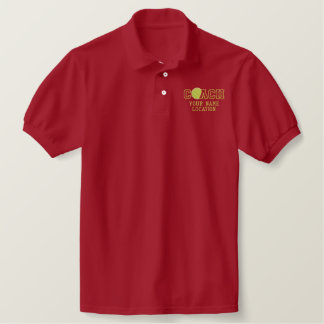 Personalized Tennis Coach Your Name Your Game Embroidered Polo Shirt