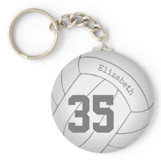 personalized volleyball keychain / backpack tag