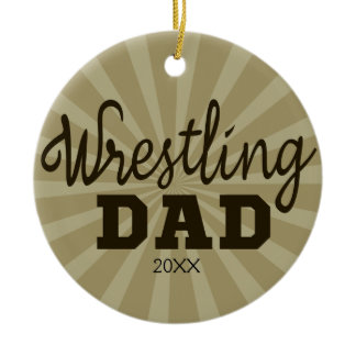 Personalized Wrestling Dad Christmas Ornament