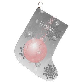 Pink Fancy Christmas Ornament Stocking