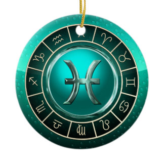 Pisces - The Fish Astrological Sign Ceramic Ornament