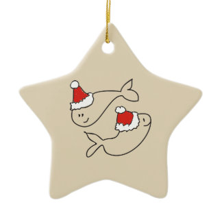 Pisces Zodiac Sign Astrology Cute Drawing  Ceramic Ornament