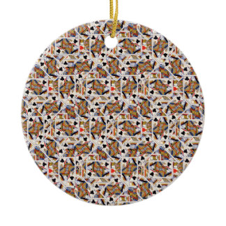 Playing cards Ceramic Ornament