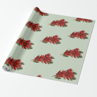 Poinsettias 2 wrapping paper