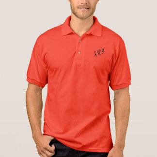 Polo shirt with a silhouette of a wolf