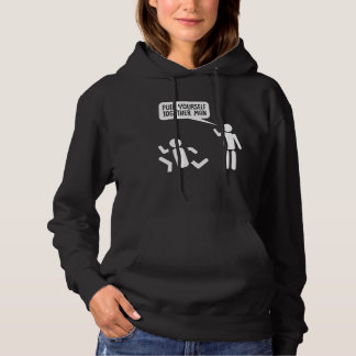 Pull Yourself Together Sarcastic Stick Man Comic Hoodie