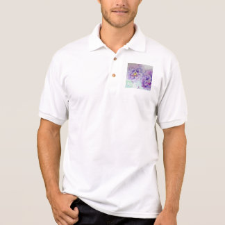 Purple Pansy Flower Floral Watercolor Painting Polo Shirt