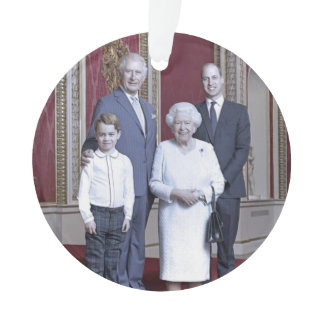 Queen Elizabeth & heirs stylized Ornament