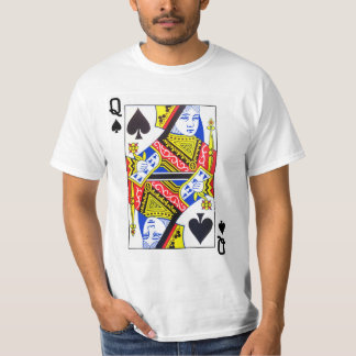 Queen of Spades Playing Card T-Shirt