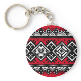 Red Embroidery Keychain