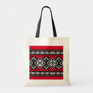 Red Embroidery Tote Bag