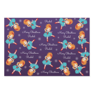 Red Hair Christmas Ballerina Wrapping Paper Sheets