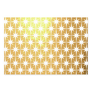 Retro Midcentury Modern Atomic Starbursts Gold Foil Wrapping Paper Sheets