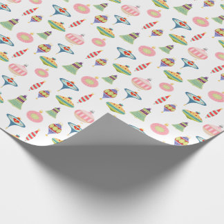 Retro Ornaments | Mid Century Modern Pattern Wrapping Paper