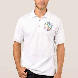 Round Logo Company Branded Business Employee White Polo Shirt