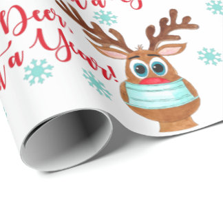 Rudolph the Face Masked Reindeer Wrapping Paper