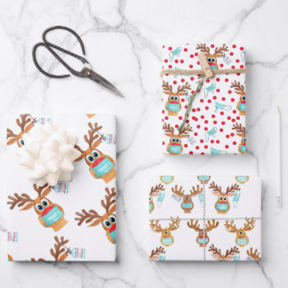 Rudolph the Face Masked Reindeer Wrapping Paper Sheets