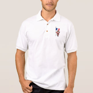 Santa Claus With Ensign Of France Polo Shirt