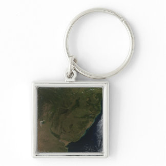 Satellite view of South America Keychain