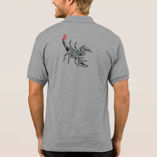 Scorpion with red spine polo shirt