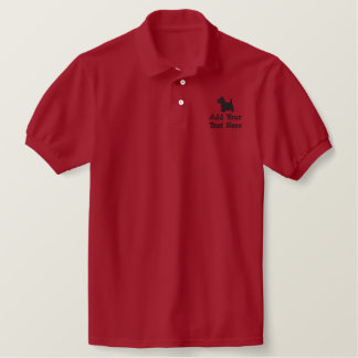 Scottish Terrier Dog Custom Personalized Embroidered Polo Shirt