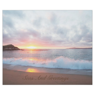 Seas And Greetings California Beach Sunset Wrapping Paper